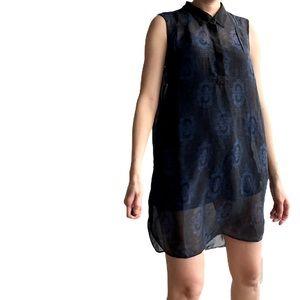 W118 Walter baker sheer sleeveless dress